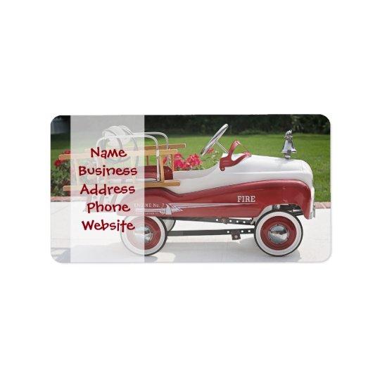 Generic Childs Metal Pedal Car Firetruck Car
