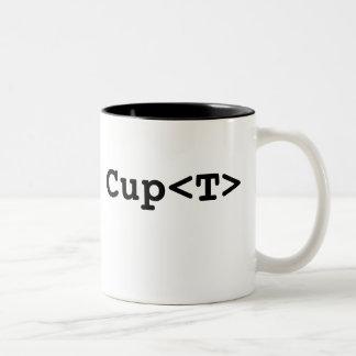 Generic Cup<T> Two-Tone Coffee Mug