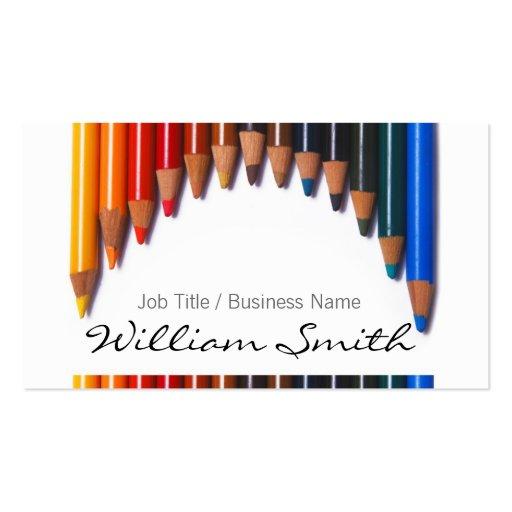 Generic Pencils Job Titles/Business Igname Modèle De Carte De Visite