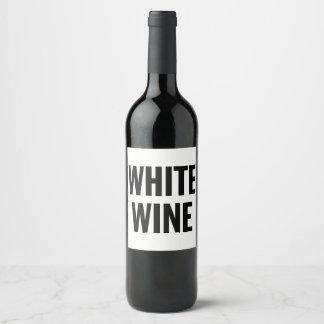 GENERIC WHITE WINE LABEL