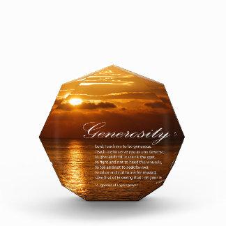 Generosity prayer