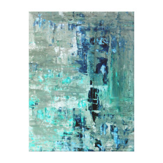 'Generous' Turquoise Abstract Art Canvas Print