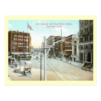 Genesee & Water Street, Syracuse, New York Vintage Postcard
