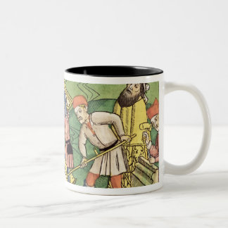 Genesis 11 1-9 Building The Tower of Babel, from t Two-Tone Coffee Mug