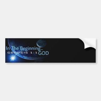 genesis 1:1 bumper sticker