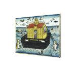 Genesis 6:11-24 Noah's Ark, from the Nuremberg Bib Canvas Print