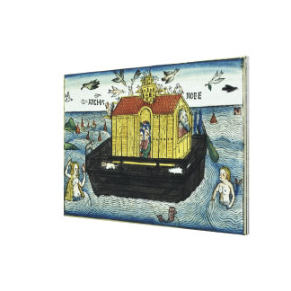 Genesis 6:11-24 Noah's Ark, from the Nuremberg Bib Canvas Print