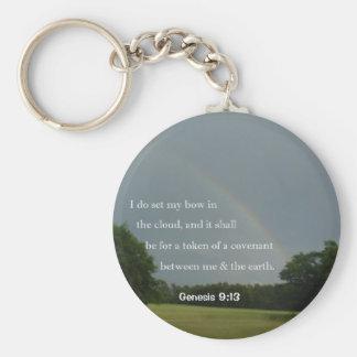 Genesis 9:13 Rainbow Keychain