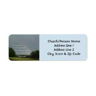 Genesis 9:13 Rainbow Return Address Labels