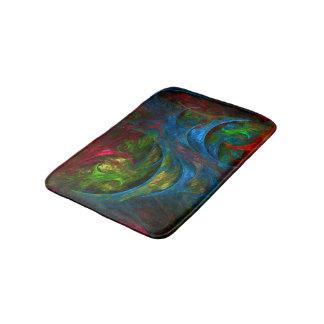 Genesis Blue Abstract Art Bath Mat
