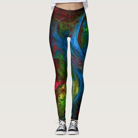 Genesis Blue Abstract Art Leggings