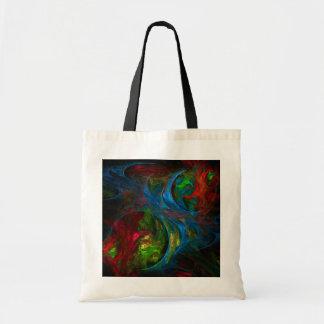 Genesis Blue Abstract Art Tote Bag