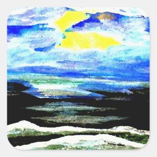 Genesis - CricketDiane Ocean Art Square Sticker