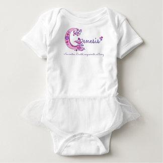 Genesis girls G name meaning monogram shirt