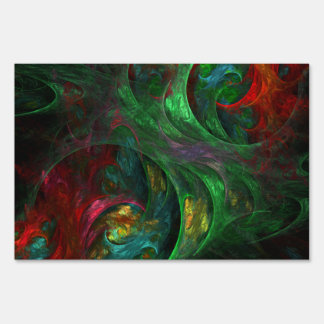 Genesis Green Abstract Art