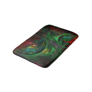 Genesis Green Abstract Art Bathroom Mat