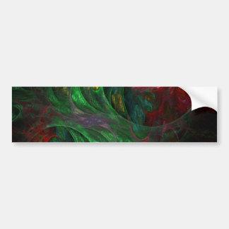 Genesis Green Abstract Art Bumper Sticker
