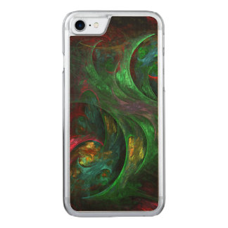 Genesis Green Abstract Art Carved iPhone 8/7 Case
