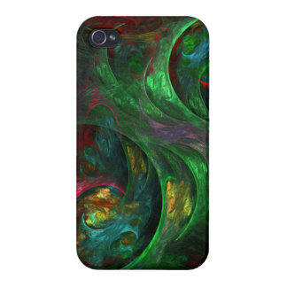 Genesis Green Abstract Art iPhone 4 Cover