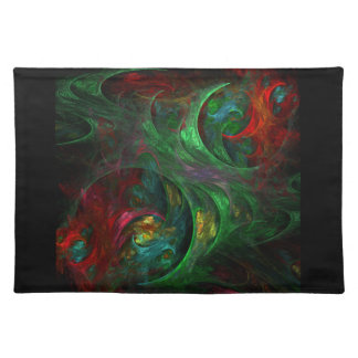 Genesis Green Abstract Art Placemat