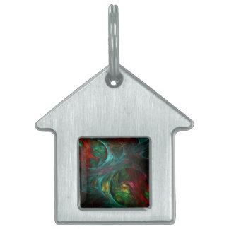 Genesis Nova Abstract Art House Pet Name Tag