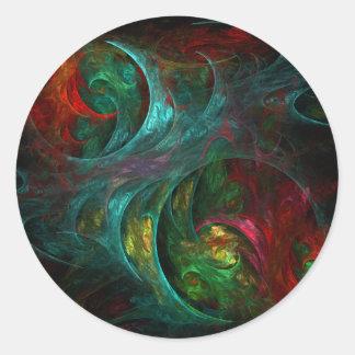 Genesis Nova Abstract Art Round Sticker