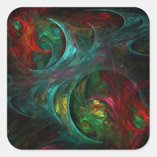 Genesis Nova Abstract Art Square Sticker