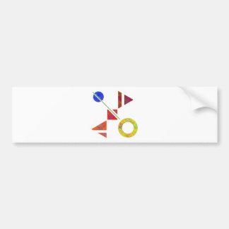 Genessium - birth of maths bumper sticker