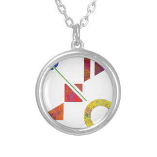Genessium - birth of maths silver plated necklace
