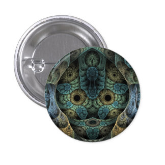 Genetic Memory Psychedelic Face 1 Inch Round Button