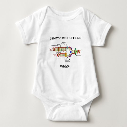 Genetic Reshuffling Inside Biology Geek Humour Baby Bodysuit
