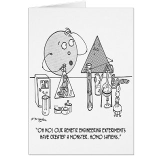 Genetics Cartoon 0313 Card