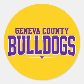 Geneva County High School; Bulldogs Classic Round Sticker
