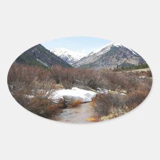 Geneva Creek In The Fall Oval Sticker