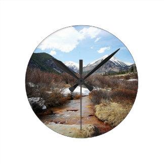 Geneva Creek In The Fall Round Clock