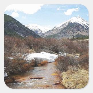 Geneva Creek In The Fall Square Sticker