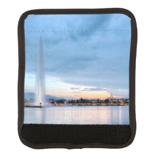 Geneva fountain, Switzerland Luggage Handle Wrap