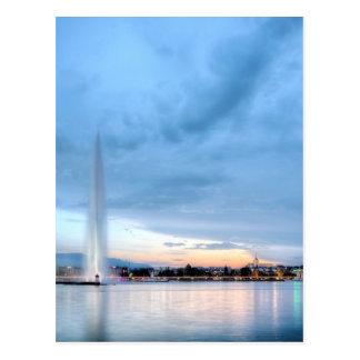 Geneva fountain, Switzerland Postcard