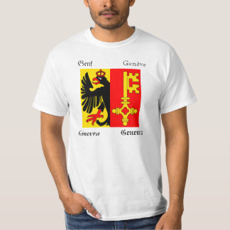 Geneva Four Language Swiss Canton Flag T-Shirt