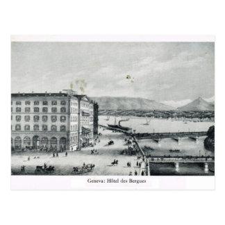 Geneva, Hotel des Bergues 1890 Postcard