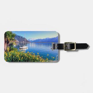 Geneva lake at Montreux, Vaud, Switzerland Luggage Tag