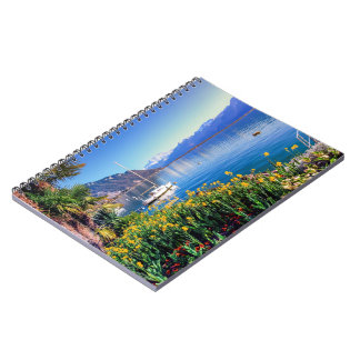 Geneva lake at Montreux, Vaud, Switzerland Notebook