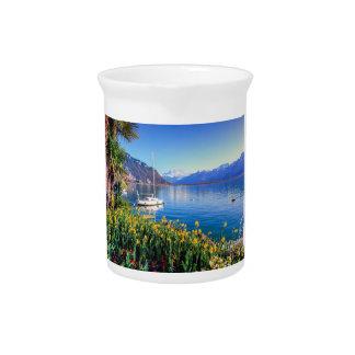 Geneva lake at Montreux, Vaud, Switzerland Pitcher