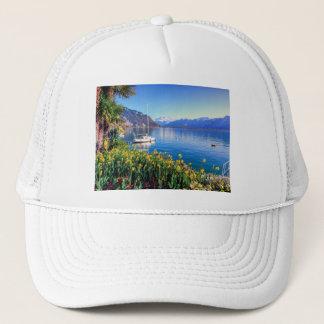Geneva lake at Montreux, Vaud, Switzerland Trucker Hat