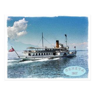 Geneva lake postcard