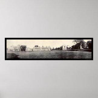 Geneva, New York Hobart College Photo 1909 Poster