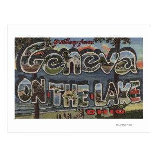 Geneva-on-the-Lake, Ohio - Large Letter Scenes Postcard