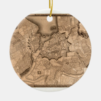 Geneva Switzerland 1773 Ceramic Ornament