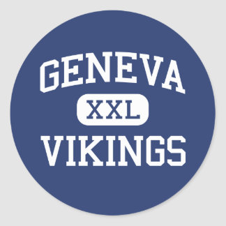 Geneva Vikings Middle School Geneva Illinois Classic Round Sticker