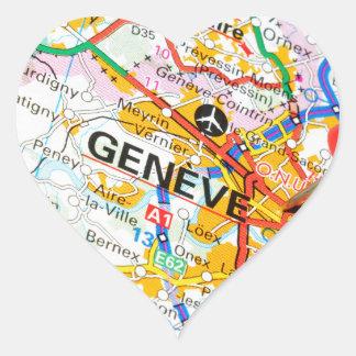 Geneve, Geneva, Switzerland Heart Sticker
